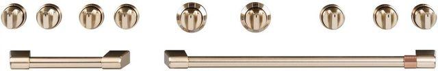 """Café™ 48"""" Brushed Bronze Pro Range & Cooktop Handles/Knobs-CXPR8HKPMBZ"""