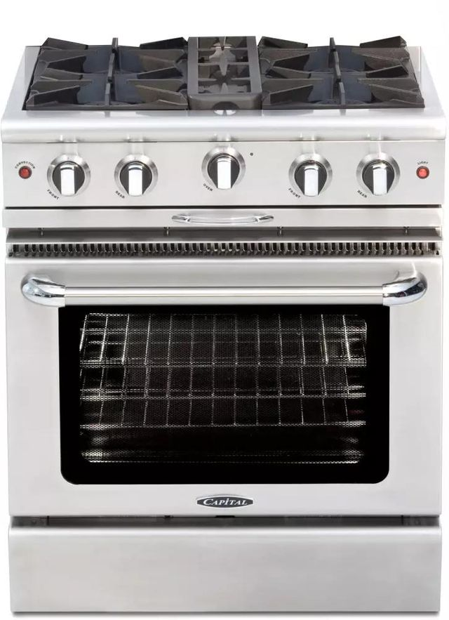 """Capital Culinarian 30"""" Stainless Steel Free Standing Gas Range-CGSR304L"""