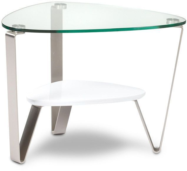 BDI Dino™ 1347 End Table-Gloss White-1347-WHITE