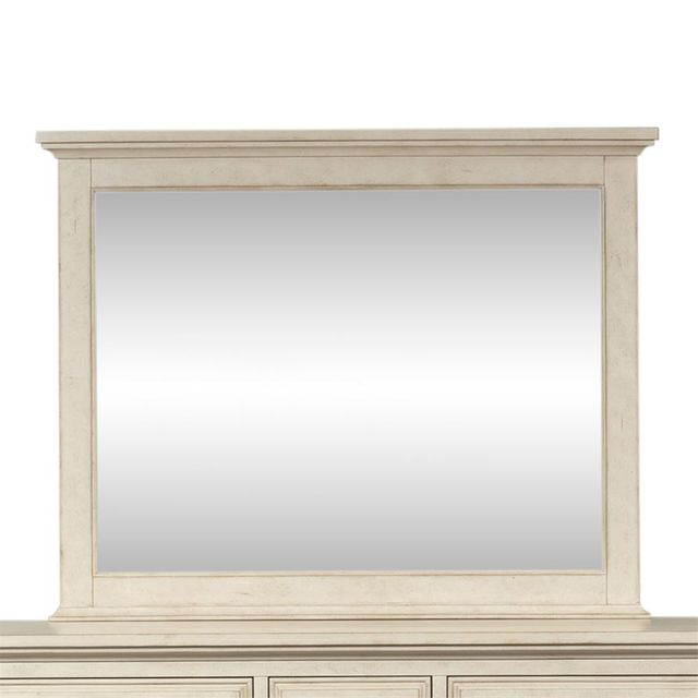 Liberty Furniture High Country Antique White Landscape Mirror-697-BR51
