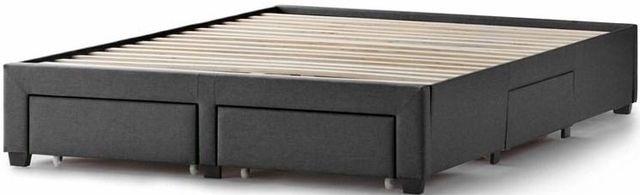 Malouf® Sleep Duncan Charcoal King Platform Bed Base-STDUNCUPLKKCH