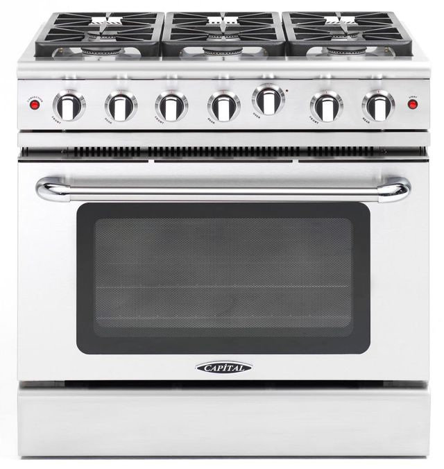 """Capital Precision™ 36"""" Stainless Steel Free Standing Gas Range-MCR366L"""