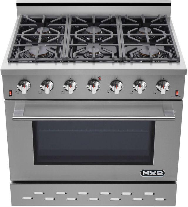 "NXR 36"" Stainless Steel Pro Style Gas Range-SC3611"