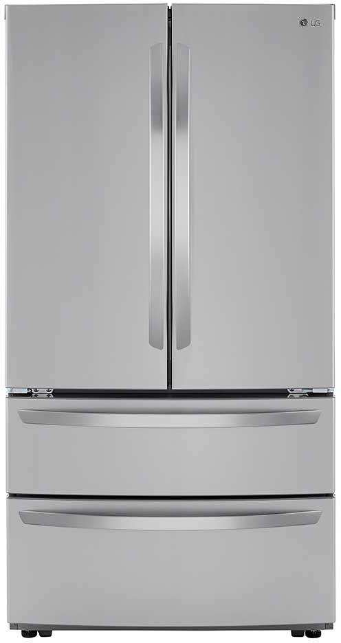 LG 26.90 Cu. Ft. PrintProof™ Stainless Steel French Door Refrigerator-LMWS27626S