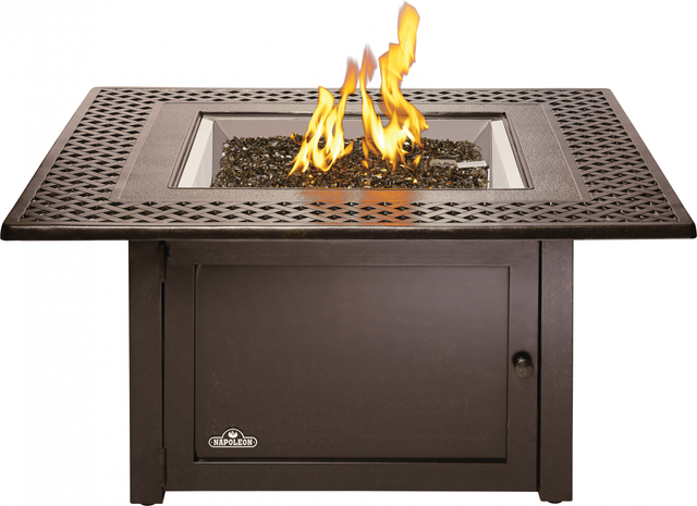 Napoleon Kensington Patioflame® Bronze Outdoor Gas Firepit SquareTable-KENS2-BZ-1
