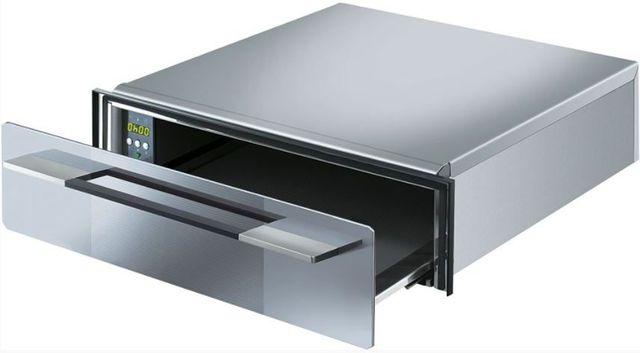 """Smeg Linea 24"""" Warming Drawer-Silverglass-CTU15S"""