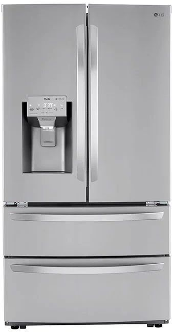 LG 22 Cu. Ft. Print Proof Stainless Steel Counter Depth French Door Refrigerator -LMXC22626S