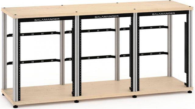 Salamander Designs® Synergy Triple 30 Rack Mount-Natural Maple/Aluminum-SL30RMM/A