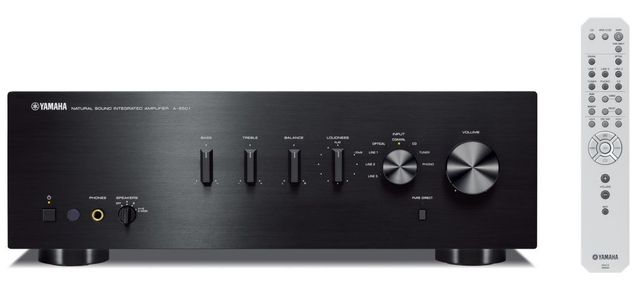 Yamaha Black 2 Channel Integrated Amplifier-A-S501BL