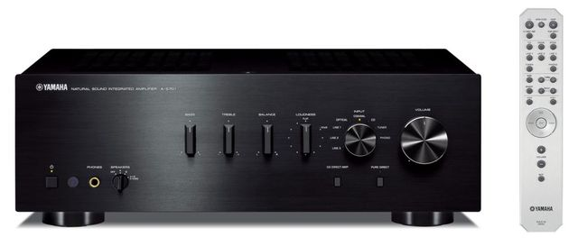 Yamaha Black 2 Channel Integrated Amplifier-A-S701BL