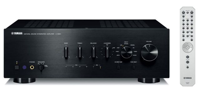 Yamaha Black 2 Channel Integrated Amplifier-A-S801BL