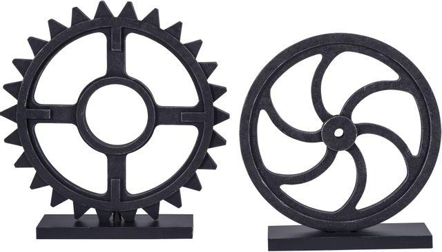 Signature Design by Ashley® Dermot Antique Black Sculpture Set-A2000254