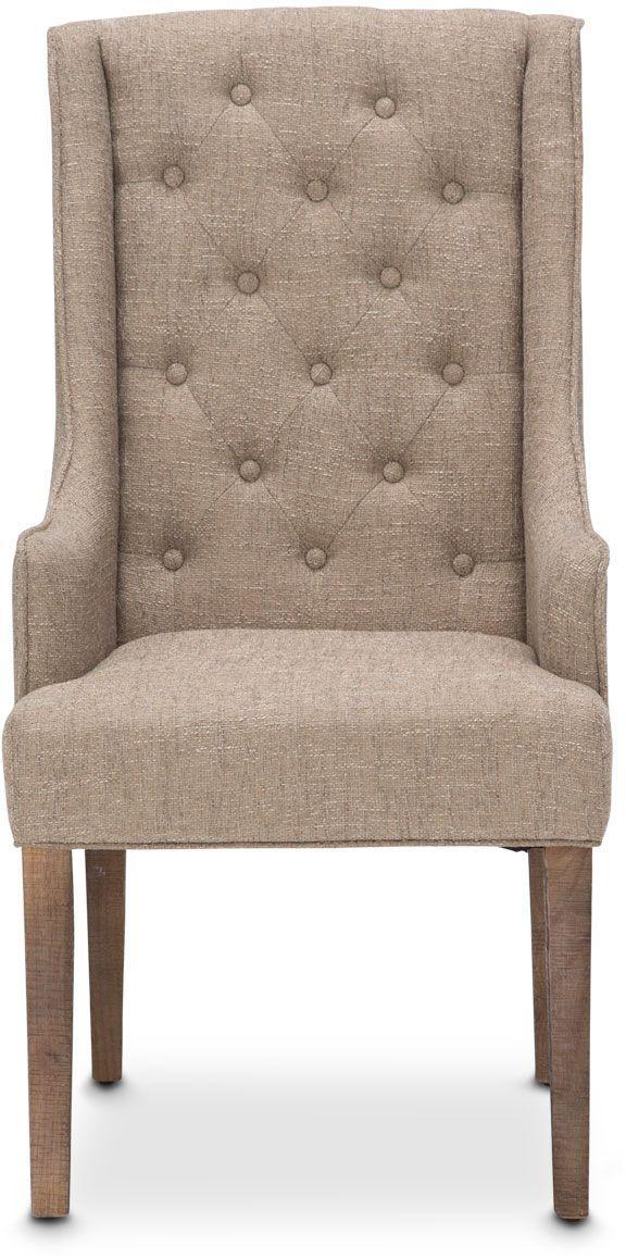 Michael Amini® Hudson Ferry Driftwood Arm Chair-KI-HUDF004-216