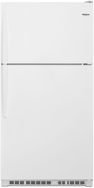 Whirlpool® 20.5 Cu. Ft. Top Freezer Refrigerator-White-WRT311FZDW