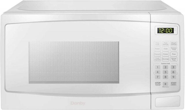 Danby® 0.7 Cu. Ft. White Countertop Microwave-DBMW0720BWW