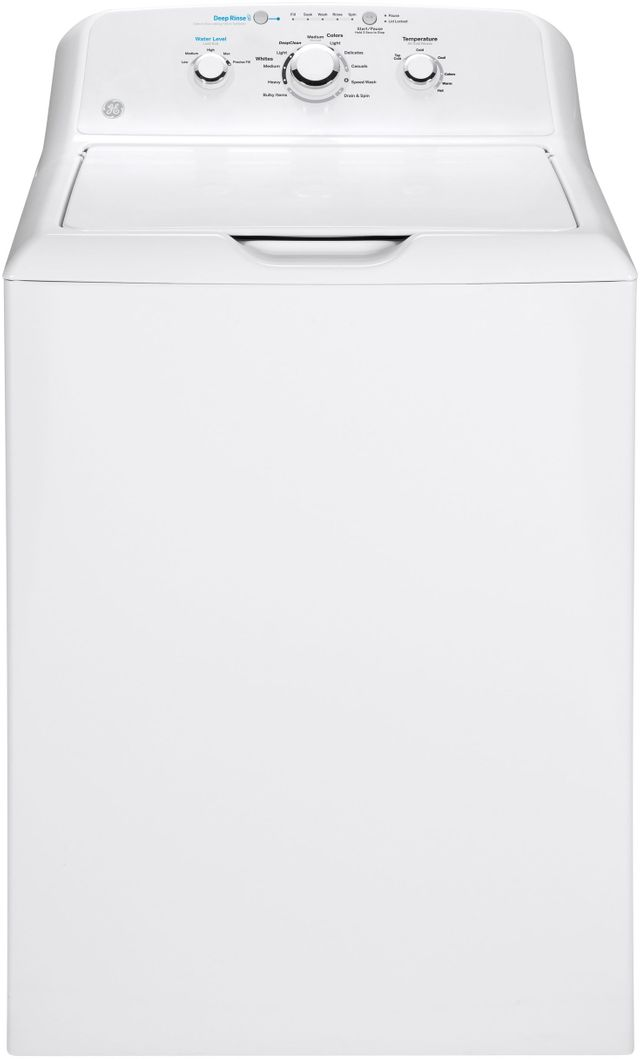 GE® 4.2 Cu. Ft. White Top Load Washer-GTW335ASNWW