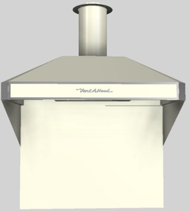 """Vent-A-Hood® A Series 42"""" Retro Style Wall Mounted Range Hood-Biscuit-AH12-242 BT"""