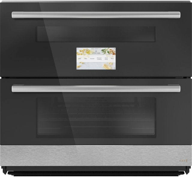"""Café™ Minimal Series 30"""" Platinum Glass Double  Electric Wall Oven-CTS92DM2NS5"""