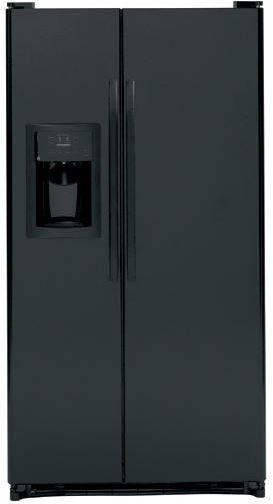 GE® 25.4 Cu. Ft. Side-by-Side Refrigerator-Black-GSS25GGHBB