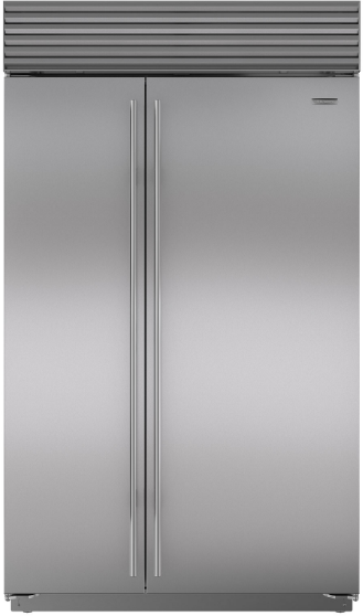Sub-Zero® 28.2 Cu. Ft. Built In Side By Side Refrigerator-Stainless Steel-BI-48SID/S/TH