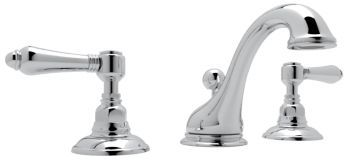 Rohl® Country Viaggio C-Spout Widespread Lavatory Faucet-Polished Chrome-A1408LMAPC-2