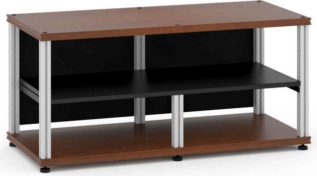 Salamander Designs® Synergy Open Center Twin 20 AV Cabinet-Dark Cherry/Aluminum-SNC20C/A