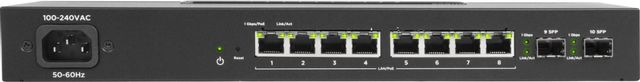 SnapAV Araknis Networks® 210 Series Black 8 Ports Websmart Gigabit Switch with Compact Design and Partial PoE+-AN-210-SW-C-8-POE