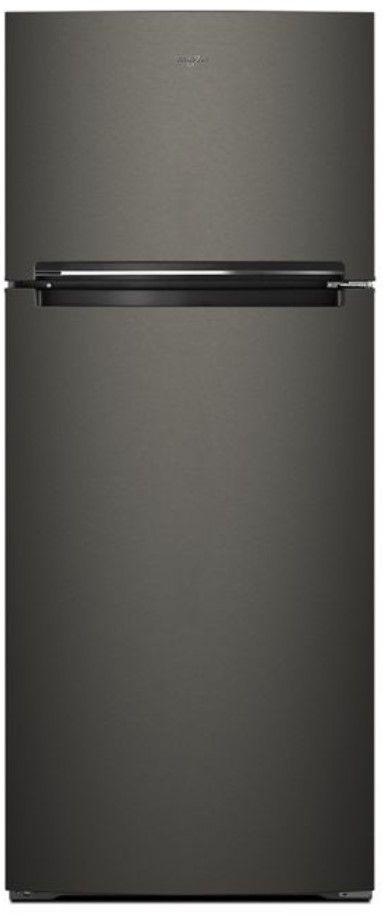 Whirlpool 18 Cu. Ft. Black Stainless Steel Top Freezer Refrigerator-WRT518SZKV