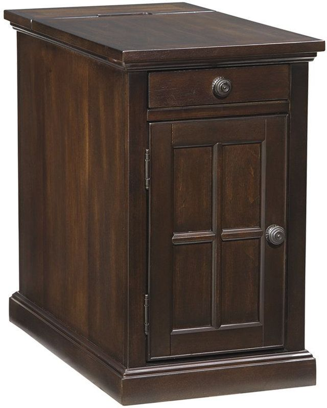 Signature Design by Ashley® Laflorn Dark Brown Chair Side End Table-T127-668