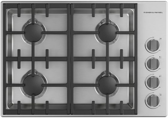 Table de cuisson au gaz Fisher Paykel® de 30 po - Acier inoxydable-CDV3-304HL