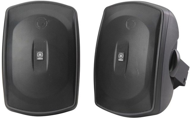 Yamaha® Black Natural Sound All-Weather Outdoor Speakers-NS-AW190BL