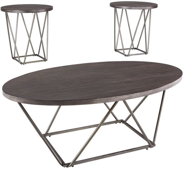 Signature Design by Ashley® Neimhurts Dark Brown Set of 3 Tables-T384-13