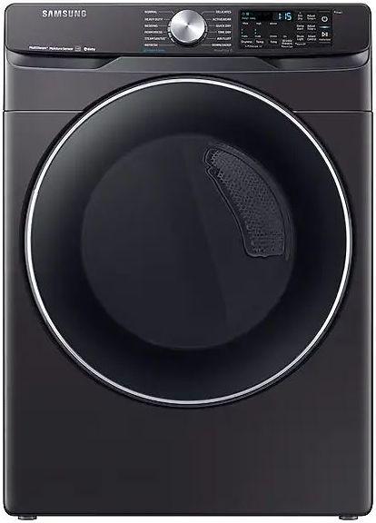 Samsung 7.5 Cu. Ft. Fingerprint Resistant Black Stainless Steel Front Load Electric Dryer-DVE45R6300V