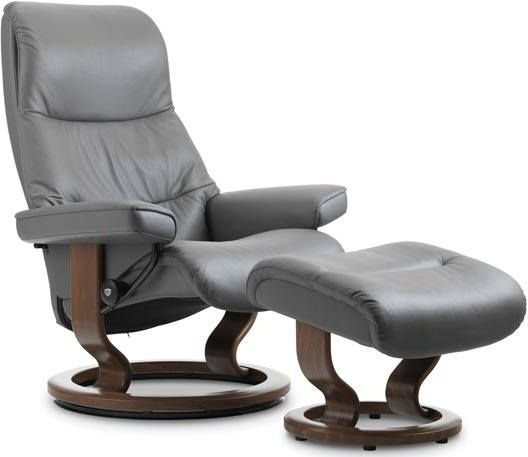 Stressless® by Ekornes® View Large Classic Base Chair and Ottoman-1308015