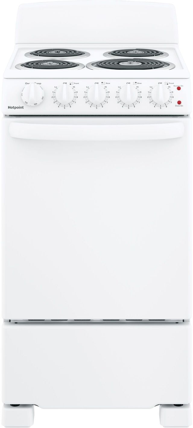 """Hotpoint® 20"""" White Free Standing Electric Range-RAS200DMWW"""