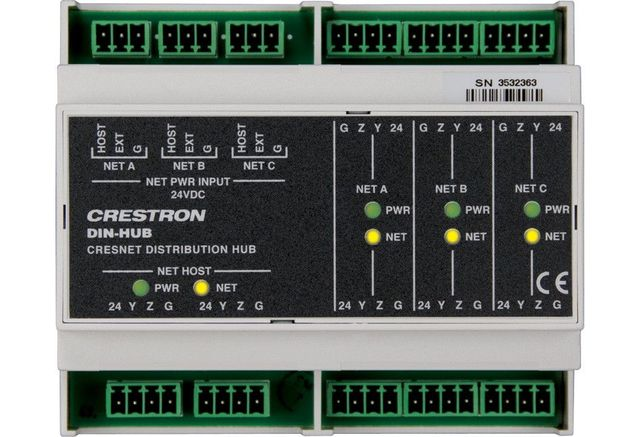 Crestron® DIN Rail Cresnet Distribution Hub-DIN-HUB
