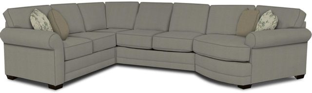 England Furniture Co. Brantley 4 Piece Culpepper Cement/Alvarado Mineral/Coconut Dungaree Sectional-5630-28-22-43-95+8612+8265+8601