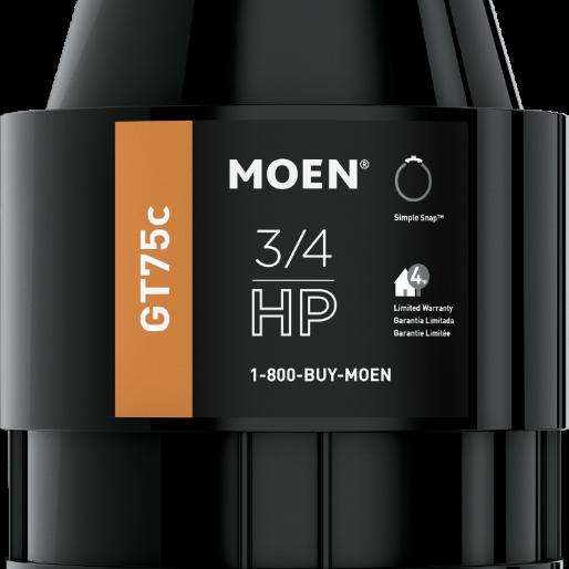 Moen® GT Series 0.75 HP Continuous Feed Black Garbage Disposal-GT75C