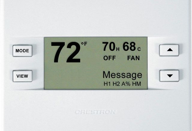 Crestron® Heating and Cooling Thermostat-Almond-CHV-TSTATA