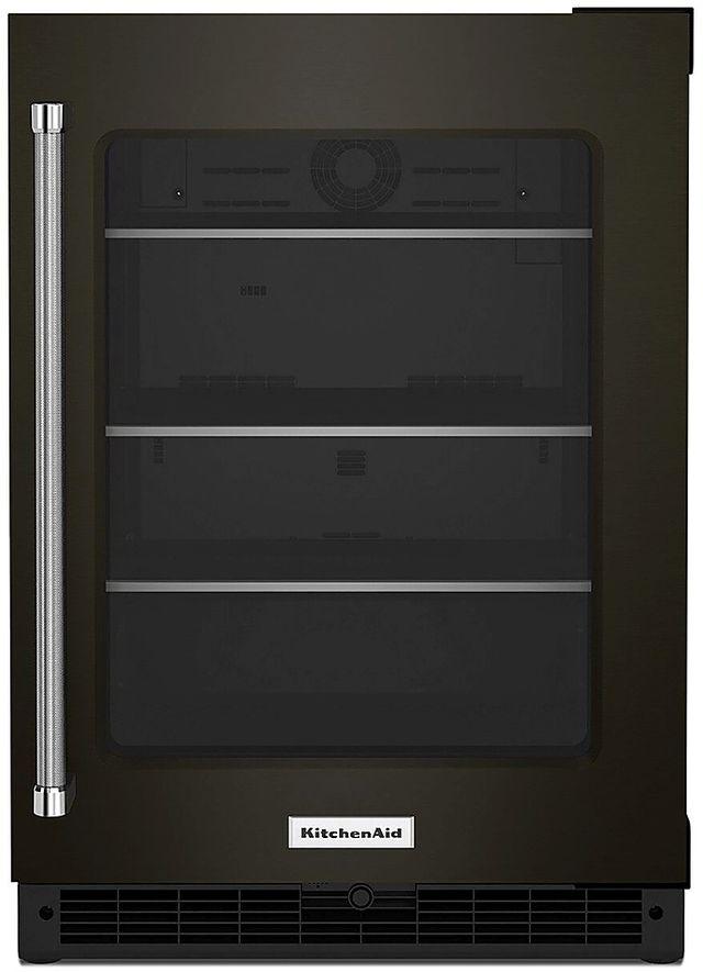 KitchenAid® 5.2 Cu. Ft. Black Stainless Steel Beverage Center-KURR314KBS