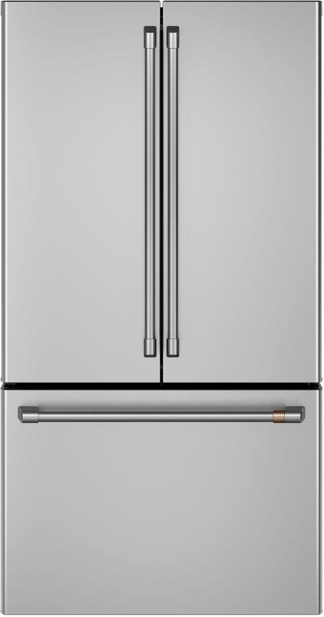 Réfrigérateur à portes françaises à profondeur de comptoir de 36 po Cafe™ de 23,1 pi³ - Acier inoxydable-CWE23SP2MS1