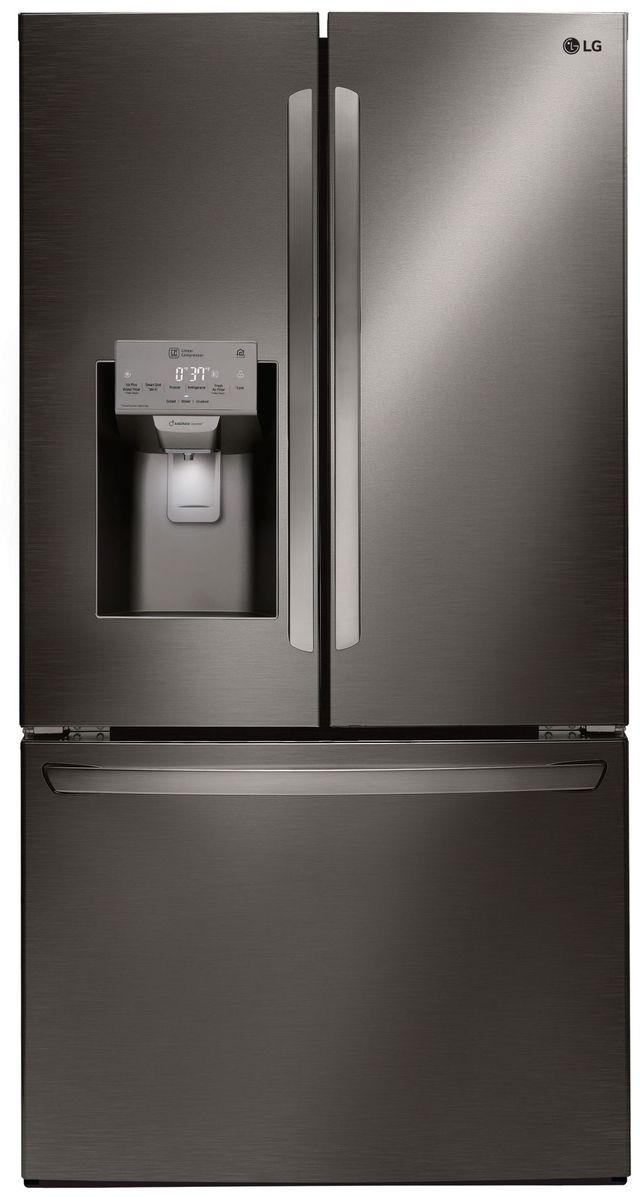 Réfrigérateur à portes françaises à profondeur de comptoir de 36 po LG® de 22,1 pi³ - Acier inoxydable noir-LFXC22526D
