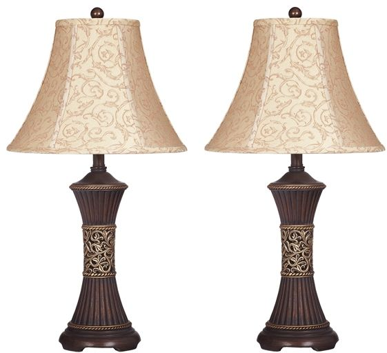 Signature Design by Ashley® Mariana Set of 2 Bronze Poly Table Lamps-L372944