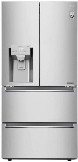 Réfrigérateur à portes françaises à profondeur de comptoir de 33 po LG® de 18,3 pi³ - Acier inoxydable résistant aux traces de doigts-LRMXC1803S