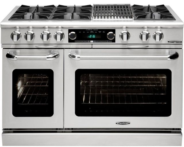 """Capital Connoisseurian 48"""" Stainless Steel Free Standing Dual Fuel Range-COB484B2N"""