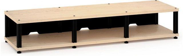 Salamander Designs® Synergy Triple 10 AV Cabinet-Natural Maple/Black-SL10M/B