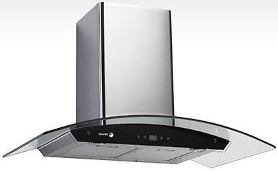 """Fagor Crystal 30"""" Wall Mounted Vent Hood-Stainless Steel and Glass-60CFG-30B"""