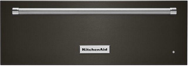 "KitchenAid® 27"" PrintShield™ Black Stainless Slow Cook Warming Drawer-KOWT107EBS"