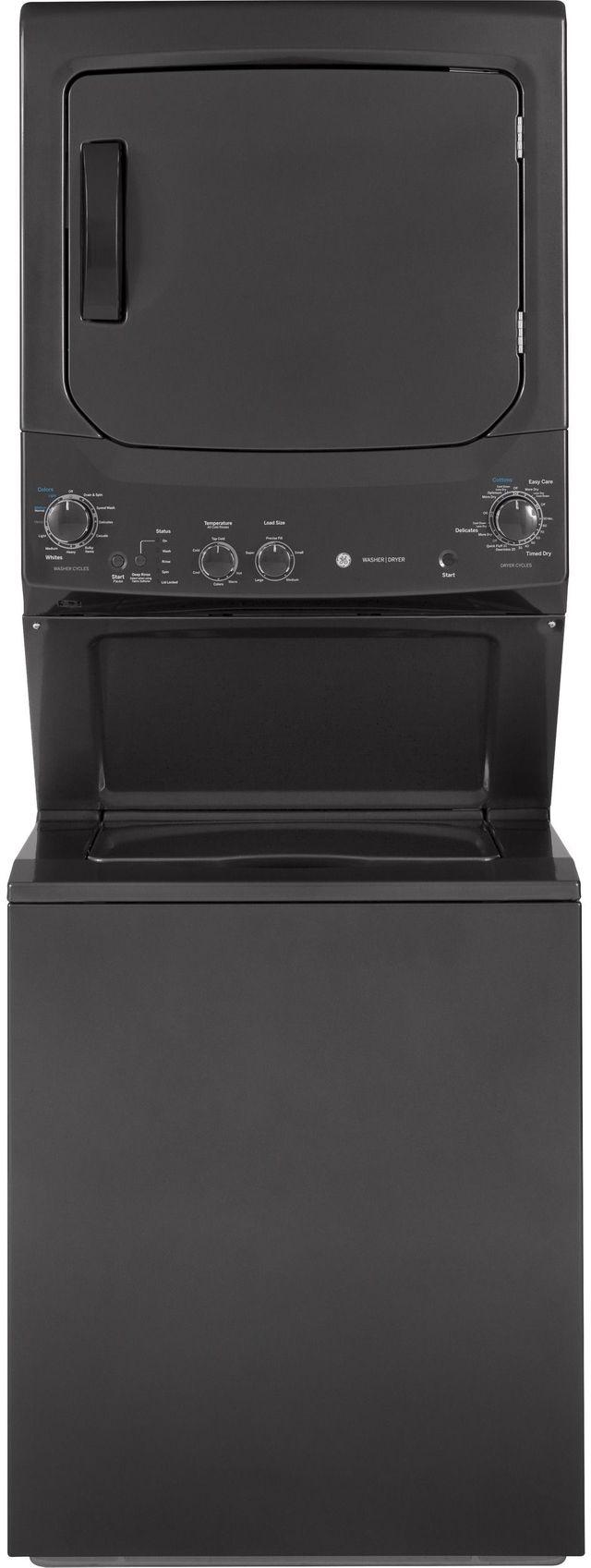 GE® Unitized Spacemaker® Stack Laundry-Diamond Gray-GUD27GSPMDG