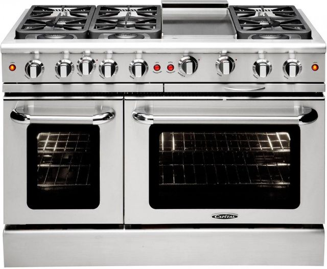 """Capital Precision™ 48"""" Stainless Steel Free Standing Gas Range-MCR486GL"""